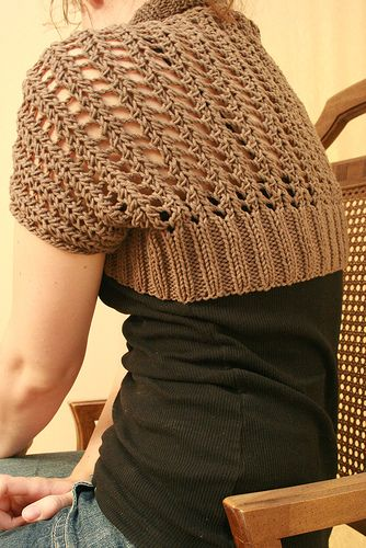 Free pattern Ribbed Lace Bolero