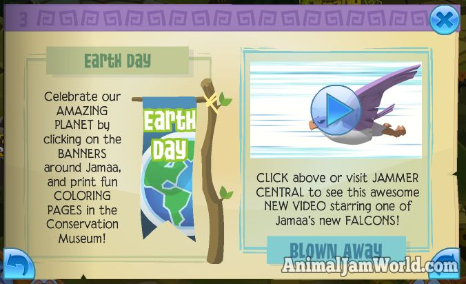 Falcons Have Landed in Jamaa! animal-jam-earth-day  #AnimalJam #Falcon #News http://www.animaljamworld.com/falcons-have-landed-in-jamaa/