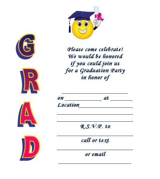 The 25+ best Free printable graduation invitations ideas on - free invitation backgrounds