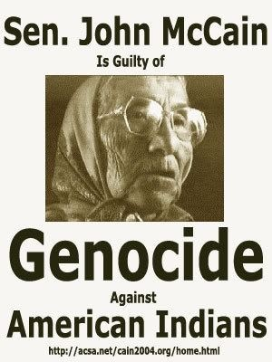 """""""Genocide"""" !  Mining company Peabody Western dumped Ammonium Nitrate into Di'neh watersheds, killing thousand upon thousand of sheep and cattle in the areas occupied by surviving Dine who refused to leave. Bureau of Indian Affairs and Department of Justice personnel ran Fences across Di'neh Cattle Grazing Lands, and hired thugs were sent in to beat up and brutalize elders living on the…"""