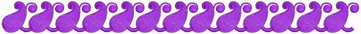 Pers kleur Paisley ontwerp Kant grens