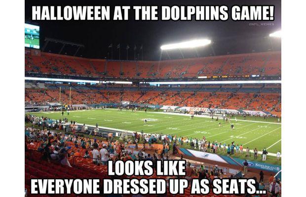 So funny! #nfl #dolphins #miami #halloween