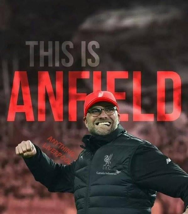 First game at Anfield for Jurgen Klopp.