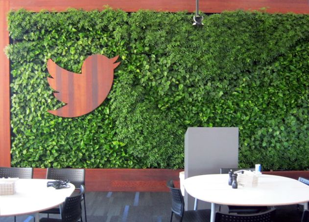 living wall with logo - Google Search SF office Pinterest - der vertikale garten live screen danielle trofe