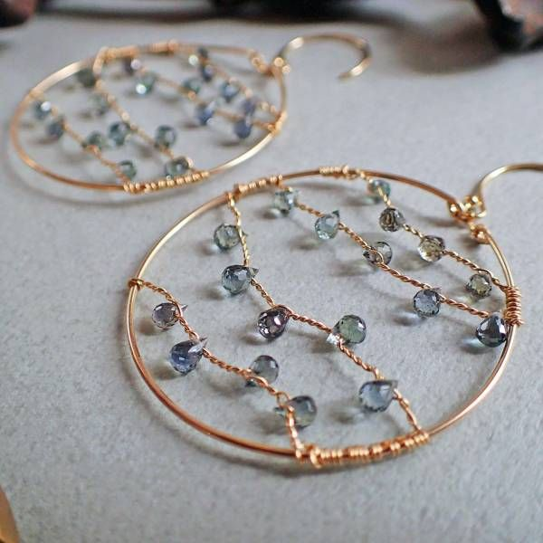 Reminds me of string lights. Change up the colors for holiday earrings! --mk