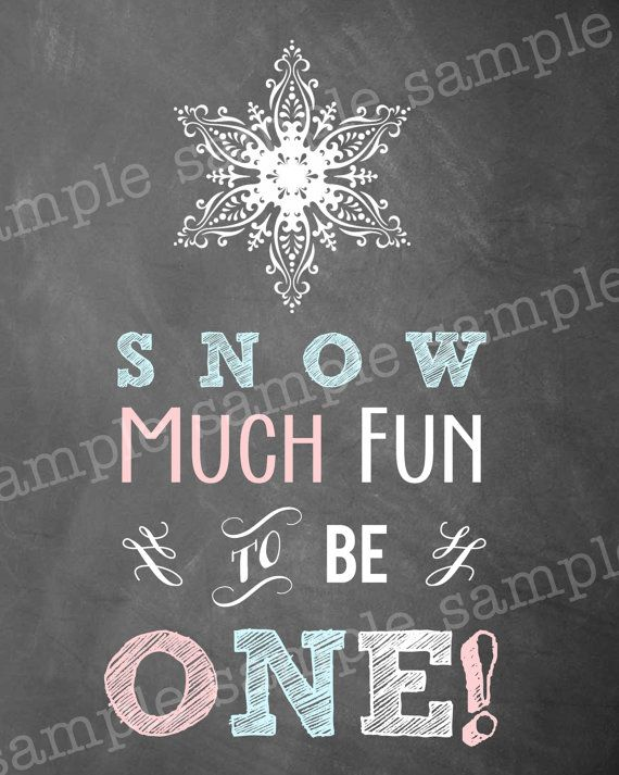 WINTER ONEDERLAND Chalkboard Birthday Party by littlebirdieprints, $4.50
