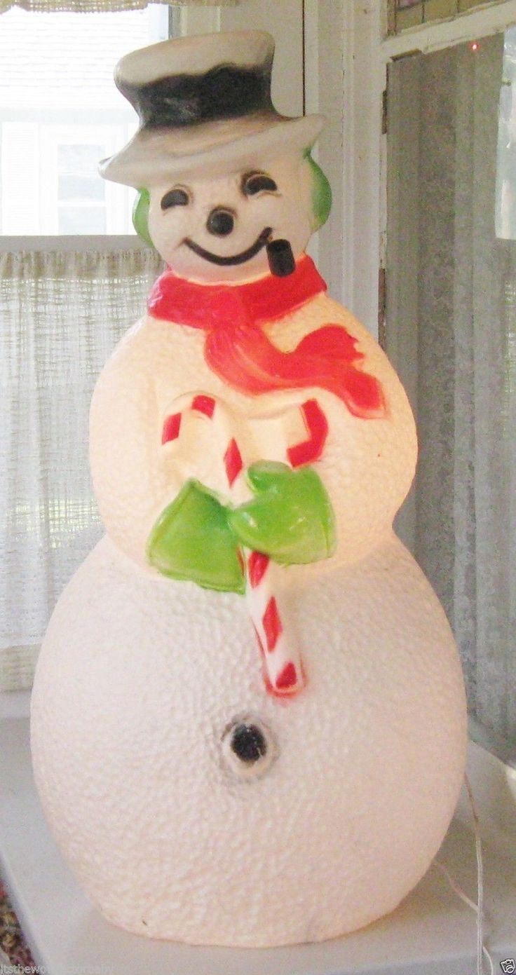 Vintage Christmas Frosty The Snowman Blow Mold Light Union Products Yard Decor | eBay