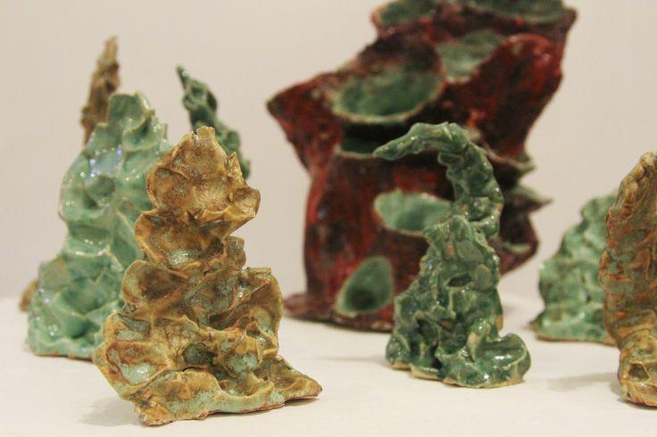 Artwork of the Day! Sea grass, Detail of Sea floor by Em Adler, stoneware #ceramics #glaze #artgallery #artworkoftheday #rhodeislandartist #newenglandartist #localartist #shoplocal #art #sculpture #401love #401only #stoneware #seagrass #oceanart