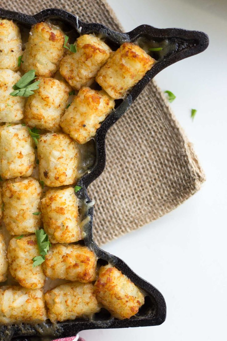 (Vegetarian) Tater Tot Hotdish | Recipe | Tater tot ...