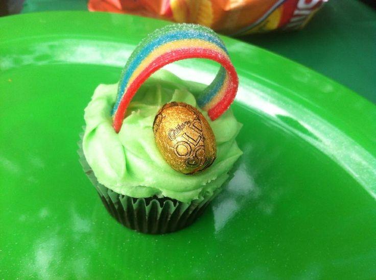 St. Patrick celebration cupcake