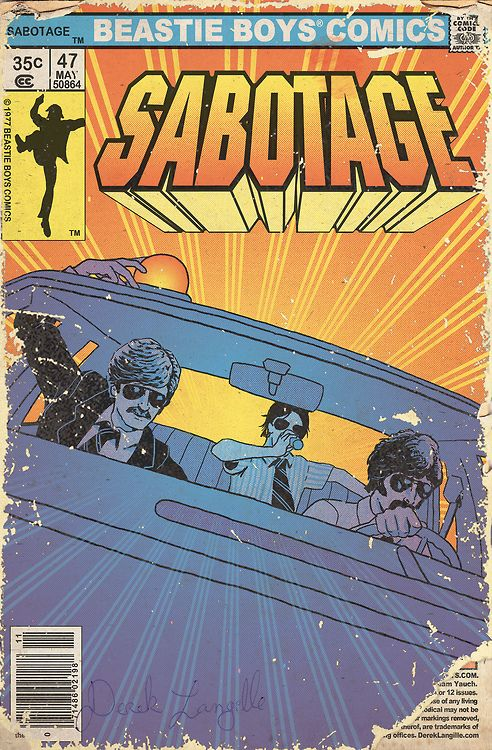 Sabotage, Beastie Boys comics | Selected by Brute Beats, Your hip hop station | #hiphop #rap #beats | brutebeats.com
