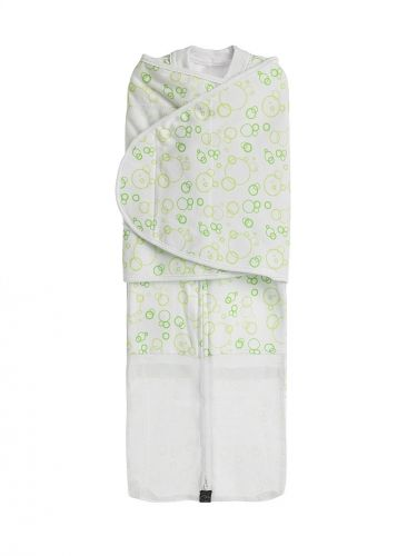 The Summer DreamSwaddle - by Mum 2 Mum  Mesh ventilation has been added over the chest area and leg area to help keep baby cool in warmer climates. Same great features as our original DreamSwaddle (double ended zip for easy nappy changes, etc).