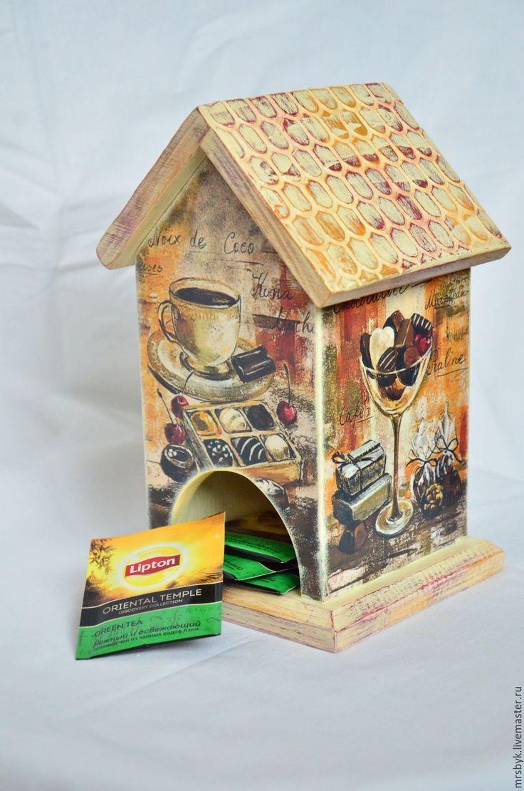 """Купить Чайный домик """"Сладкое чаепитие"""" - комбинированный, Декупаж, ручная работа, ручная авторская работа"""