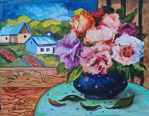 """Blaithin, """"Wilt"""" #art #flowers #painting #landscape #wilt #StillLife #DukeStreetGallery"""