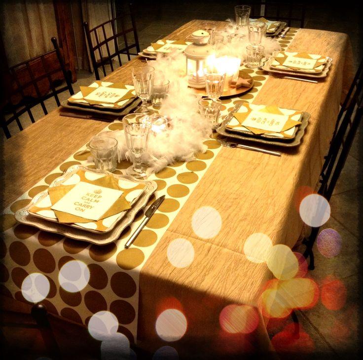 Table de fête jaune