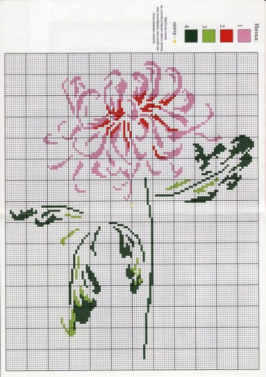 fleur - flower - point de croix - cross stitch - Blog…
