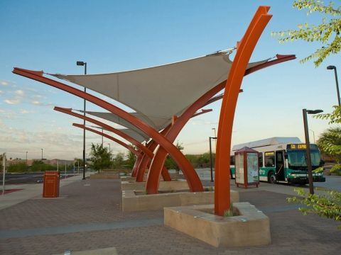 Award of Excellence Shade Structures West Mesa Park and Ride Tension Structures