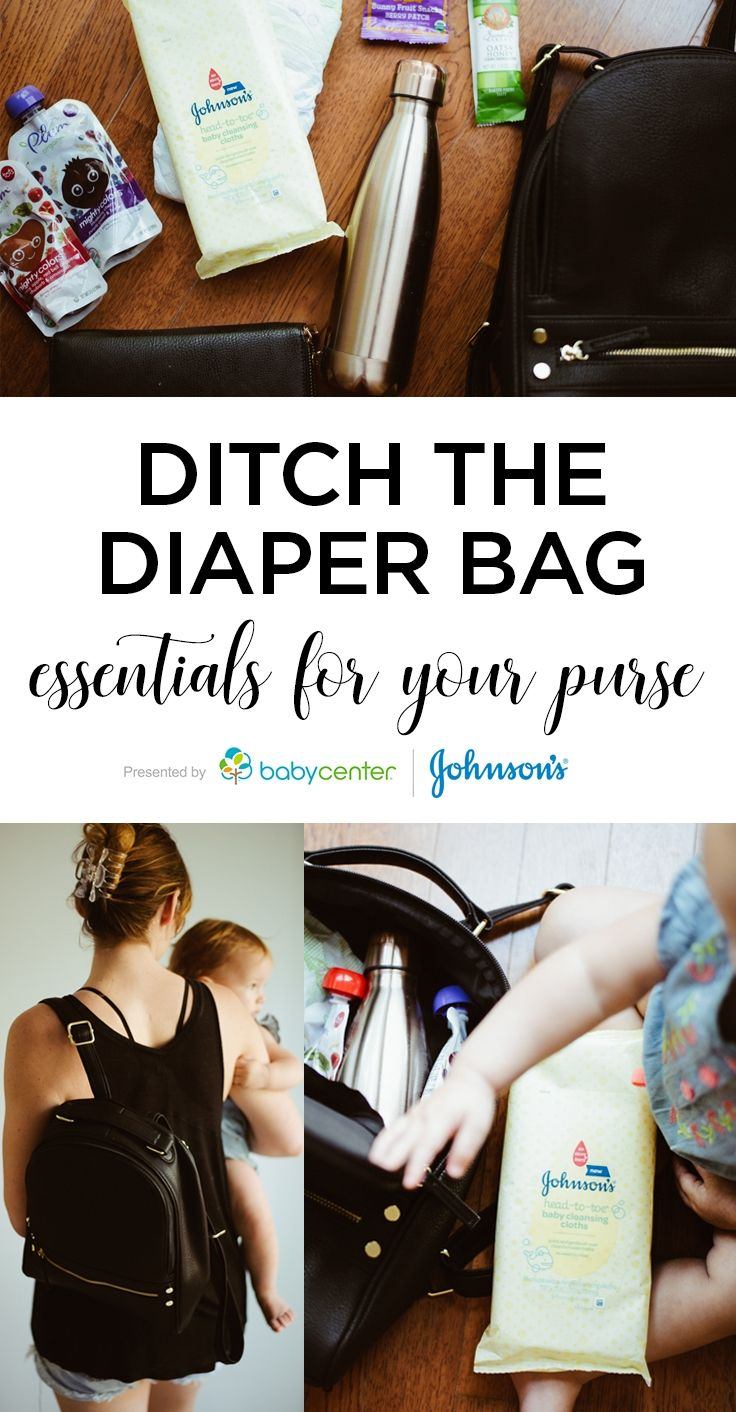 Diaper bag essentials when you're ready to trade in the diaper bag for your purse.