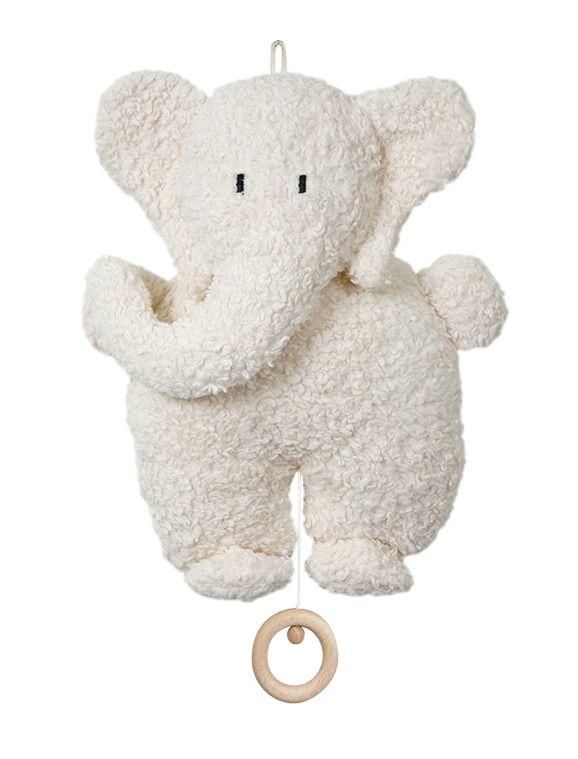 Ekologisk Speldosa Elefant - Stor, Vit