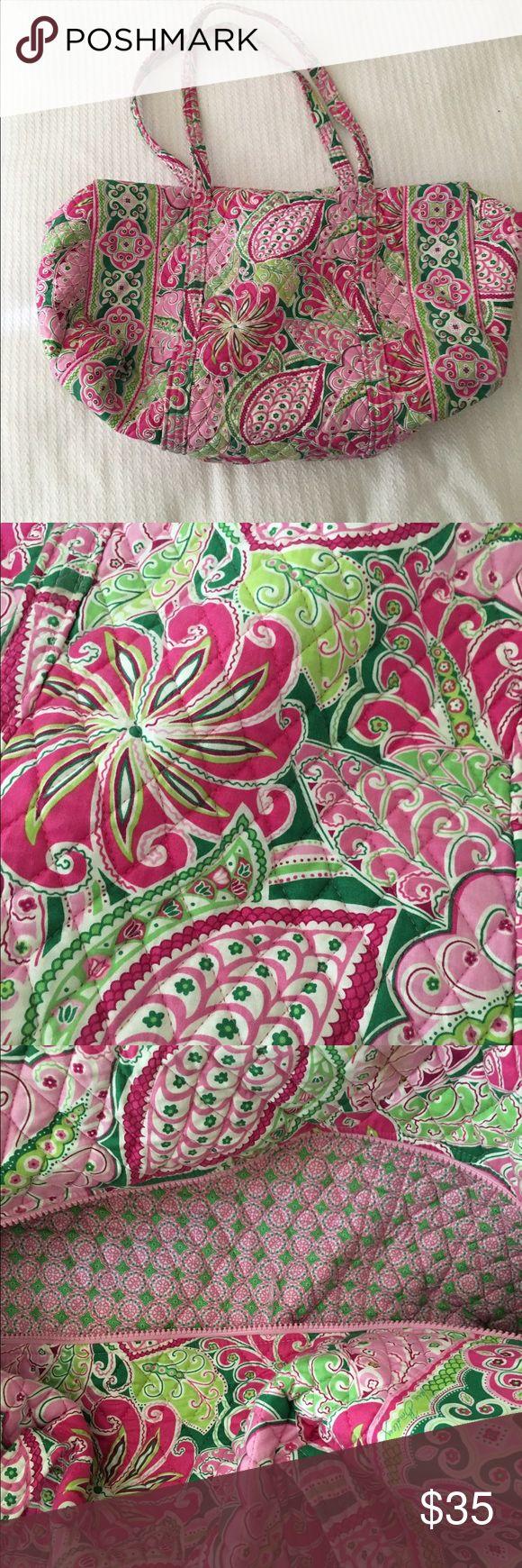 Vera Bradley Large Duffel Bag Pink Print Spacious Duffel Bag Vera Bradley Bags Travel Bags