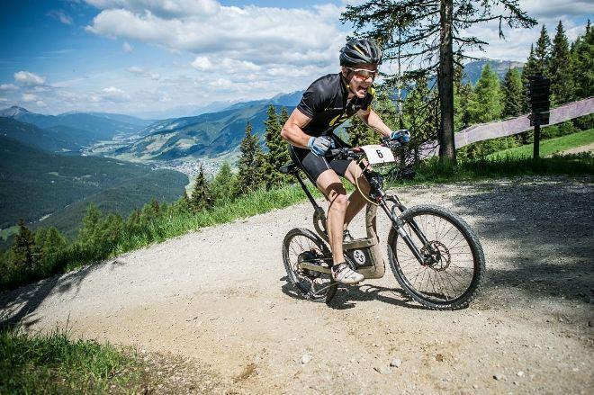 Dolomiten Rennen Armin Kiebacher auf Klever B45 offroad