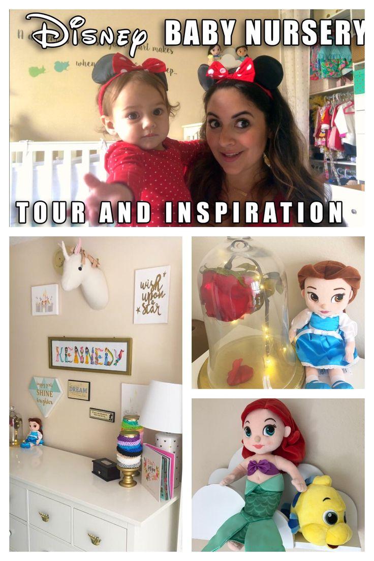Disney themed baby nursery tour. Disney decorations and nursery inspiration. Disney kids room.