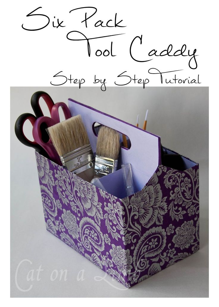 Cat on a Limb: Trash to Tool Caddy - Using a Six Pack Carrier