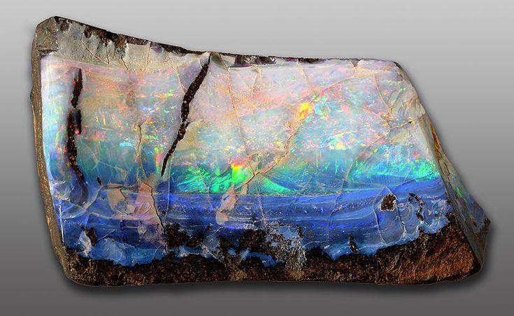 boulder opalCrystals, Funny Pics, Raw Opals, Nature, Opals Gemstones, Bing Image, Boulder Opals, Rocks, Beautiful Opals