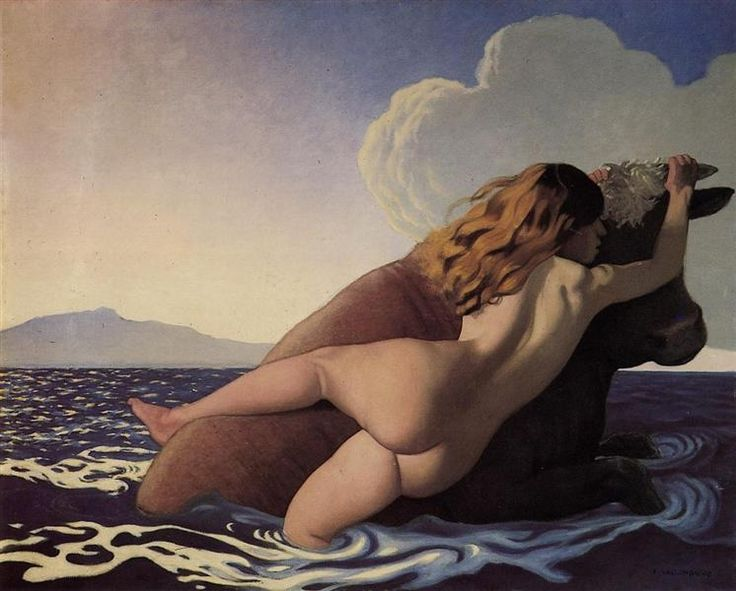 ←  → The Rape Of Europa Felix Vallotton Date: 1908 Style: Magic Realism Genre: mythological painting Media: oil, canvas Dimensions: 162 x 130 cm Tags: Greek-and-Roman-Mythology, Europa(mythology) File Source: commons.wikimedia.org References: www.felix-vallotton.com