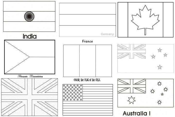Coloring Pages Flags Of The World Flag Coloring Pages World