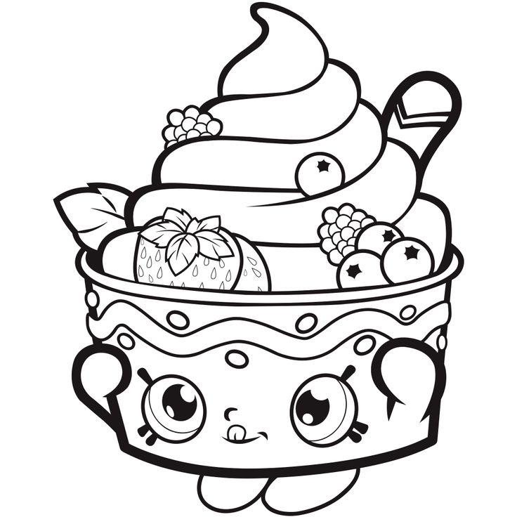 Shopkins Coloring Pages Cartoon PagesPrintable