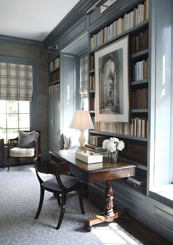 Greenwich, CT Home Office by S.B. Long Interiors