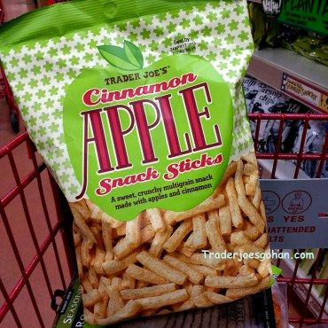 Trader Joe's Cinnamon Apple Snack Sticks  6 oz. $2.49 | #TraderJoes #Cinnamon #Apple #Snack