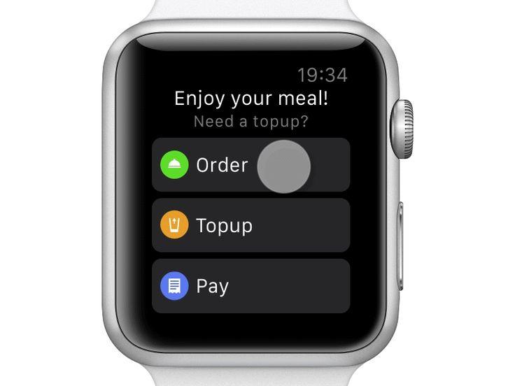 Restaurant Watch App – Drinks Topup