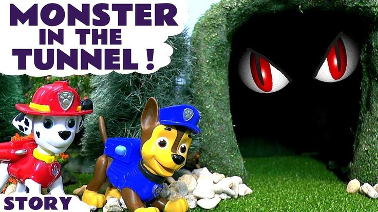 Paw Patrol Full Episode Monster In The Tunnel Nickelodeon toys for kids ...