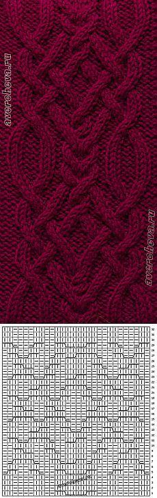 369 patrón trenzado ancho de 28 bucles | Catálogo patrones que hacen punto