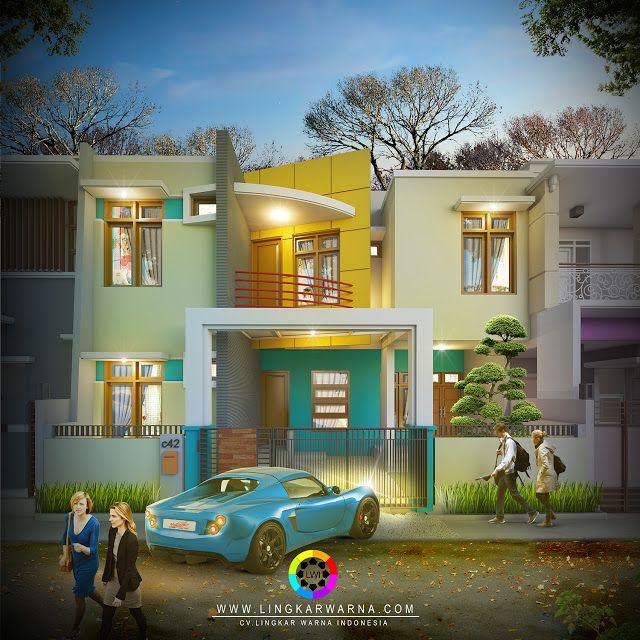 Referensi desain rumah modern minimalis dua lantai di makassar | Referensi Rumah Minimalis