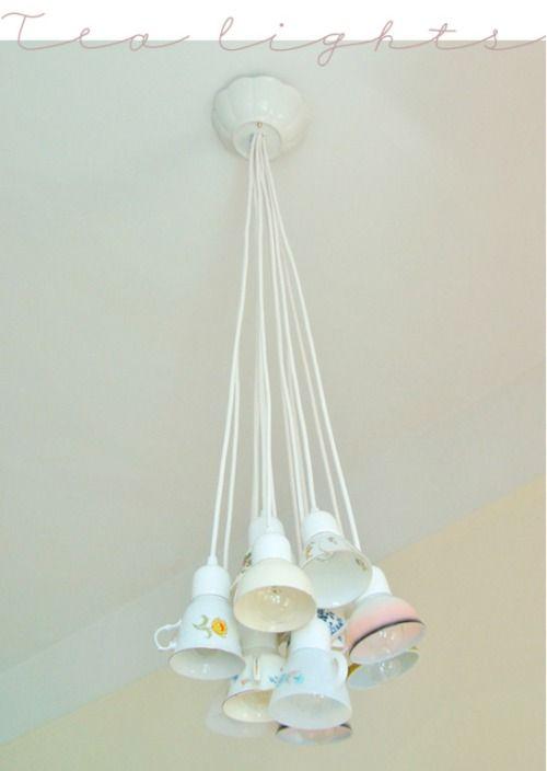Lámparas con Tazas de Té
