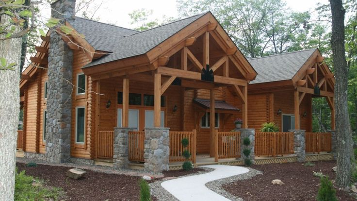 Log cabin model homes in ohio