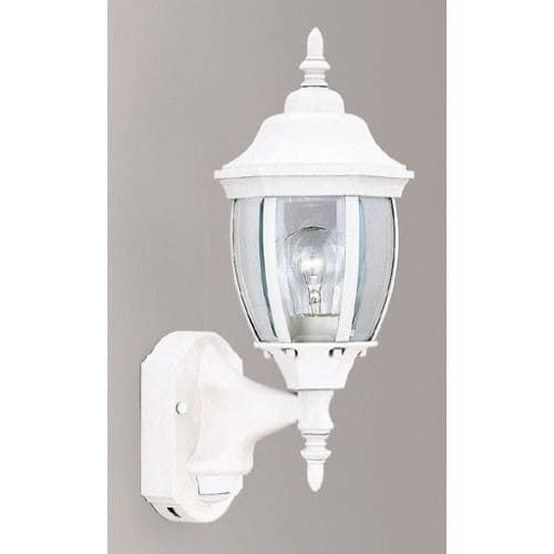 Designers Fountain 2420MD-WH 1 Light 6.5 Wall Lantern with Motion Detector, White (Aluminum)