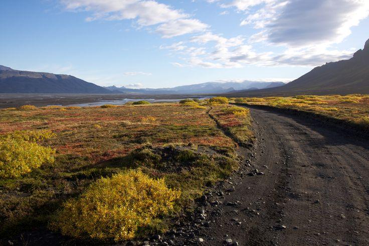 Beskrivning Thorsmörk Iceland Autumn
