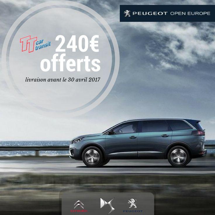 Commandez votre Peugeot, Citroen ou DS en Transit Temporaire avec une livraison avant le 30/04/2017, et bénéficiez de 240€ de remise. Non cummulable avec toute autre promotion. Uniquement par email #Peugeot #Peugeotopeneurope #ttcar #ttcartransit #expat #expatlife http://bit.ly/2n1AVFm