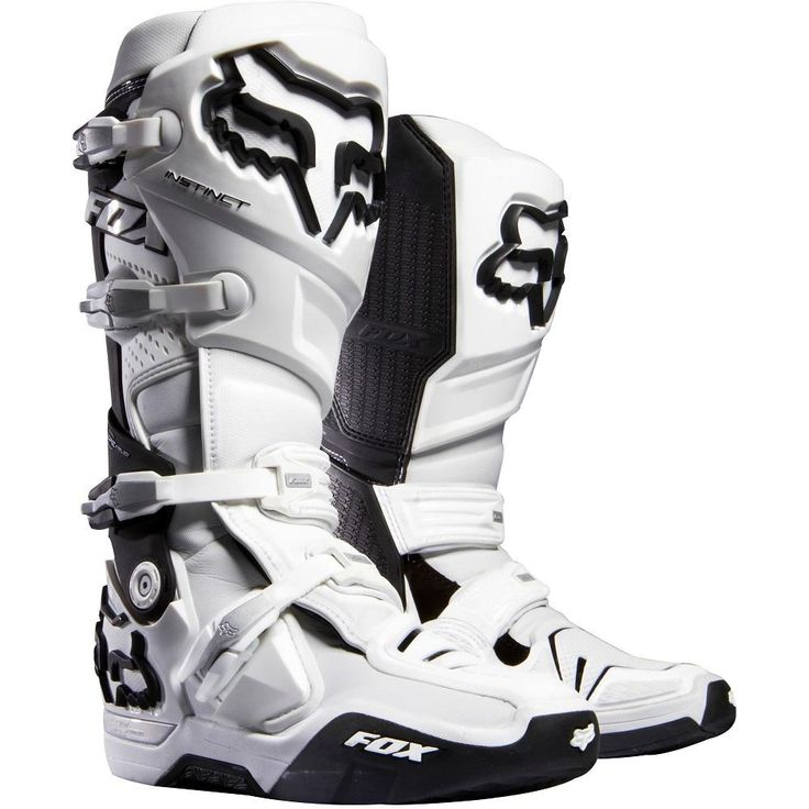 Fox Racing Instinct Boots Motocross Dirt Bike - White