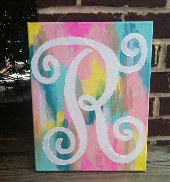 Abstract Monogram Canvas by RECprints on Etsy