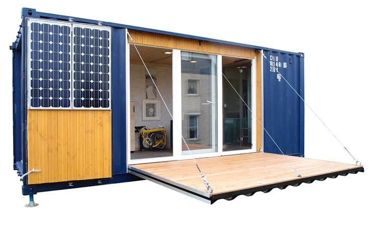 Pocketcontainer die Mikrowohnung im Überseecontainer:   von Stefan Brandt - solare Luftheizsysteme und Warmuftkollektoren