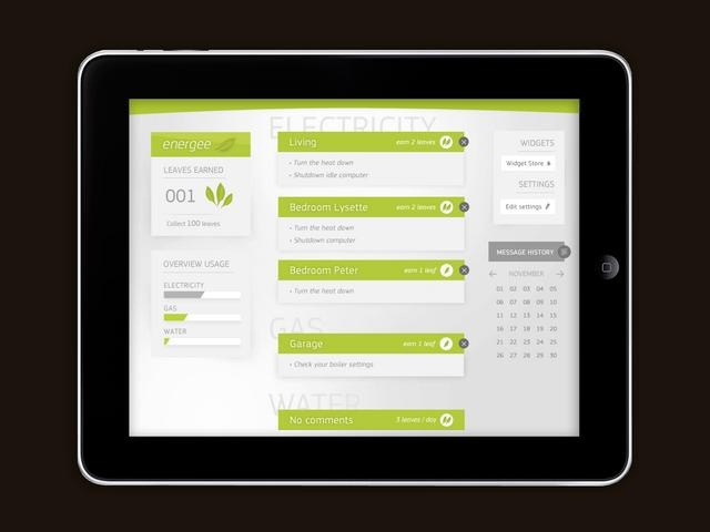 Energee by Jarne Uytersprot. Energee, an energy dashboard application for the iPad and iPhone!