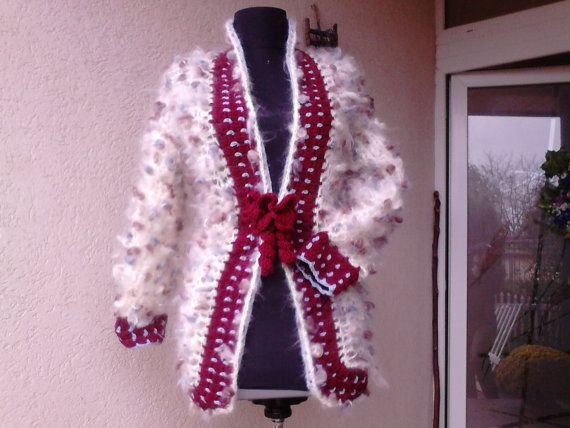 Crochet Cardigan  NORA unique as you by AnnesMagicCrochet on Etsy