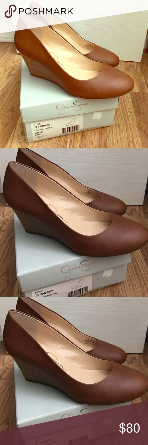 Jessica Simpson wedges - Brown - New - Size 8 Brand New, Jessica Simpson wedges, brown, size 8 Jessica Simpson Shoes Wedges