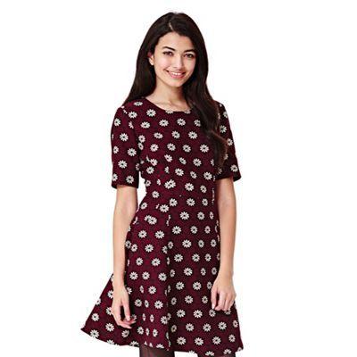 Yumi blue Skater Dress With Daisy Print | Debenhams