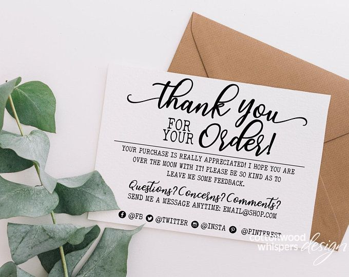 Instant Handmade Item Thank You Cards Editable Pdf Printable Etsy In 2021 Business Thank You Thank You Card Design Business Thank You Cards